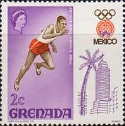 Grenada 1968 Olympic Games Mexico SG 301 Fine Mint