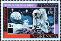Grenada 1970 First Man on the Moon Surcharge SG 371b Fine Used