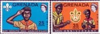 Grenada 1972 Boy Scouts Air Mail Set Fine Mint