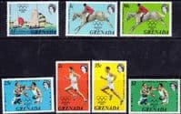 Grenada 1972 Olympic Games Set Fine Mint