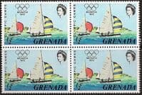 Grenada 1972 Olympic Games SG 522 Fine Mint Block of 4