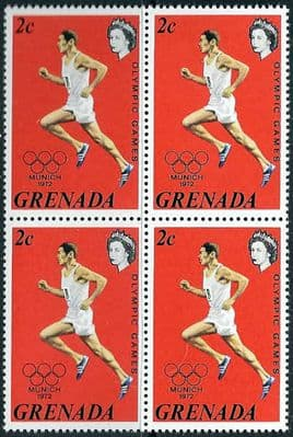 Grenada 1972 Olympic Games SG 524 Fine Mint Block of 4