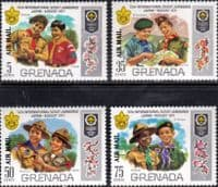 Grenada 1972 World Scout Jamboree Air Mail Set Fine Mint