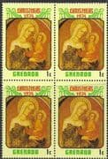 Grenada 1974 Christmas SG 641 Fine Mint Block of 4