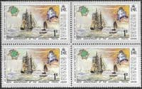 Grenada 1974 U P U Centenary SG 629 Fine Mint Block of 4