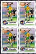 Grenada 1974 World Cup Football Championship SG 620  Fine Mint Block of 4
