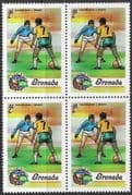 Grenada 1974 World Cup Football Championship SG 621  Fine Mint Block of 4