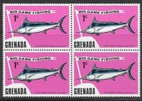 Grenada 1975 Big Game Fishing SG 670 Fine Mint Block of 4