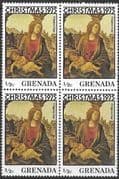 Grenada 1975 Christmas SG 753 Fine Mint Block of 4