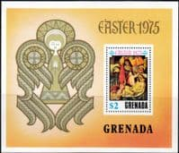 Grenada 1975 Easter Miniature Sheet Fine Mint