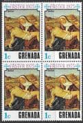 Grenada 1975 Easter SG 706 Fine Mint Block of 4