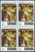 Grenada 1975 Easter SG 707 Fine Mint Block of 4