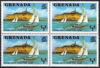 Grenada 1975 SG 649 Yachts Cruising Fine Mint Block of 4