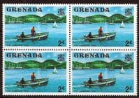 Grenada 1975 SG 651 The Carenage Taxi Fine Mint Block of 4