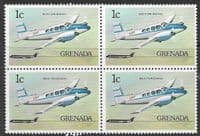 Grenada 1976 Airplanes SG 819 Fine Mint Block of 4