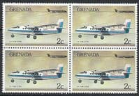 Grenada 1976 Airplanes SG 820 Fine Mint Block of 4