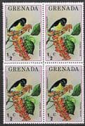 Grenada 1976 Flora and Fauna SG 761 Fine Mint Block of 4