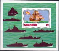 Grenada 1976 Ships Miniature Sheet Fine Mint