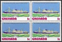 Grenada 1976 Ships SG 834 Fine Mint Block of 4