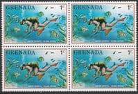 Grenada 1976 Tourism SG 770 Fine Mint Block of 4
