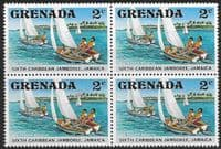 Grenada 1977 Scout Jamboree SG 880 Fine Mint Block of 4