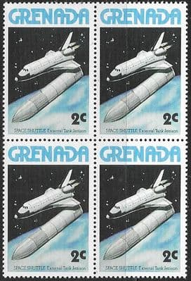 Grenada 1978 Space Shuttle SG 917 Fine Mint Block of 4