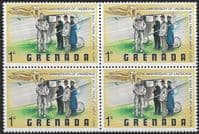 Grenada 1978 Zeppelin Flight SG 908 Fine Mint Block of 4