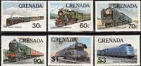Grenada 1982 Trains of the World Set Fine Mint