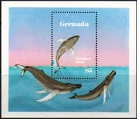 Grenada 1983 Save the Whales Miniature Sheet Fine Mint