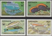 Grenada 1984 Coral Reef Fishes Set Fine Mint