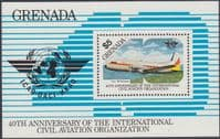 Grenada 1985 Civil Aviation Organization Miniature Sheet Fine Mint