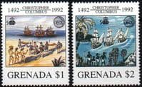 Grenada 1992 Discovery of America Columbus Set Fine Mint