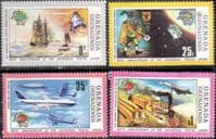 Grenada Grenadines 1974 Universal Postal Union Set Fine Mint