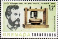 Grenada Grenadines 1977 First Telephone Transmission SG 207 Fine Mint
