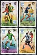 Grenada Grenadines 1978 World Cup Football Championship Set Fine Mint