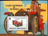 Grenada Grenadines 1983 Automobiles Miniature Sheet Fine Mint