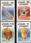 Grenada Grenadines 1986 Sea Shells Set Fine Mint