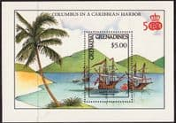 Grenada Grenadines 1987 Discovery of America Miniature Sheets Fine Mint