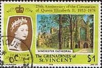 Grenadines of St Vincent 1978 Coronation. British Cathedrals Fine Used