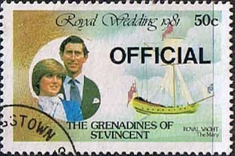 Grenadines of St Vincent 1982 Official Overprint SG O1 Ship The Mary Fine Used