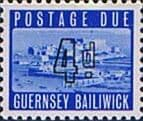 Guernsey 1969 Post Due SG D 4 Fine Mint
