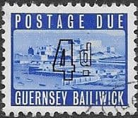 Guernsey 1969 Post Due SG D 4 Fine Used