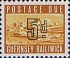 Guernsey 1969 Post Due SG D 5 Fine Mint