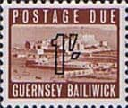 Guernsey 1969 Post Due SG D 7 Fine Mint