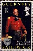 Guernsey 1969 Sir Isaac Brock SG 30 Fine Used