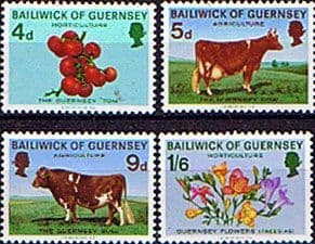Guernsey 1970 Agriculture and Horticulture Animals Cow Set Fine Mint