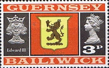 Guernsey 1971 SG 49 Guernsey Lion and King Edward III Fine Mint