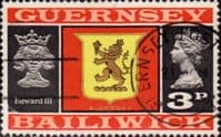 Guernsey 1971 SG 49 Guernsey Lion and King Edward III Fine Used