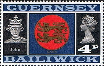 Guernsey 1971 SG 51 Arms of Sark and King John Fine Mint