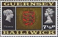 Guernsey 1971 SG 54  Queen Victoria and Arms Fine Mint